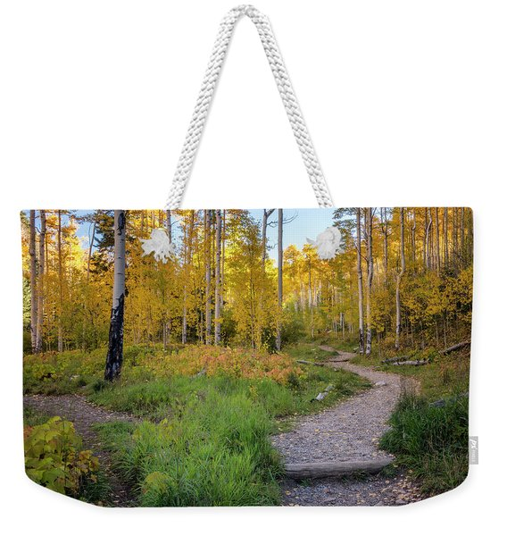 Santa Fe National Forest Aspen 1 - New Mexico Weekender Tote Bag