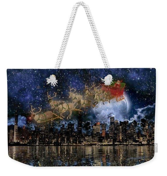 Santa In The City Weekender Tote Bag