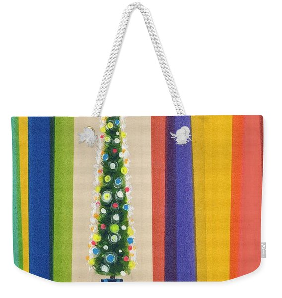 Santa's Christmas Tree Weekender Tote Bag
