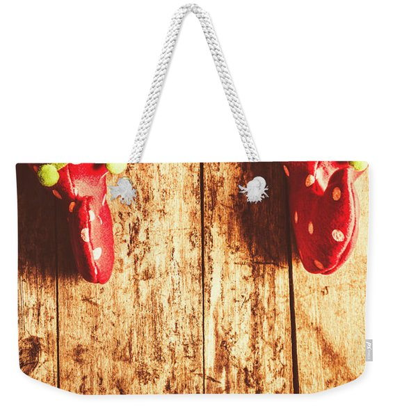 Santas Little Helper Weekender Tote Bag
