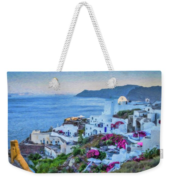 Santorini Greece Dwp416136  Weekender Tote Bag