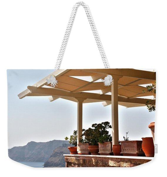 Santorini, Greece - Restaurant Weekender Tote Bag