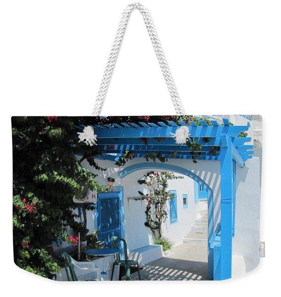 Santorini House Weekender Tote Bag