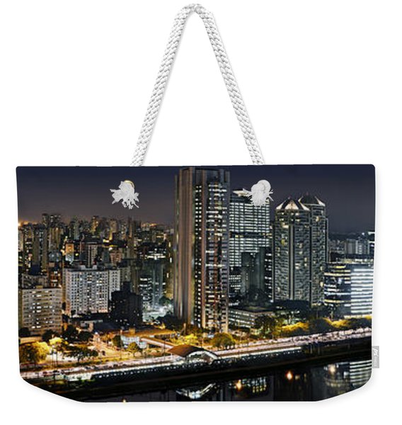 Sao Paulo Iconic Skyline - Cable-stayed Bridge  Weekender Tote Bag