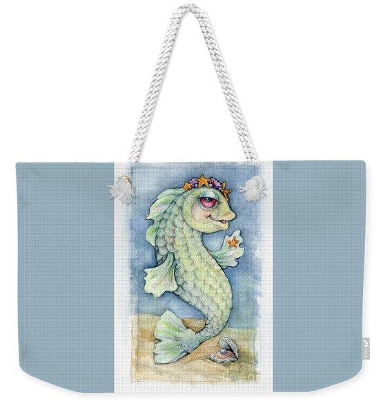 Weekender Tote Bag featuring the painting Sarafina Seabling by Lora Serra