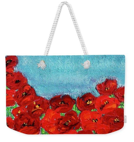 Sarah's Poppies Weekender Tote Bag