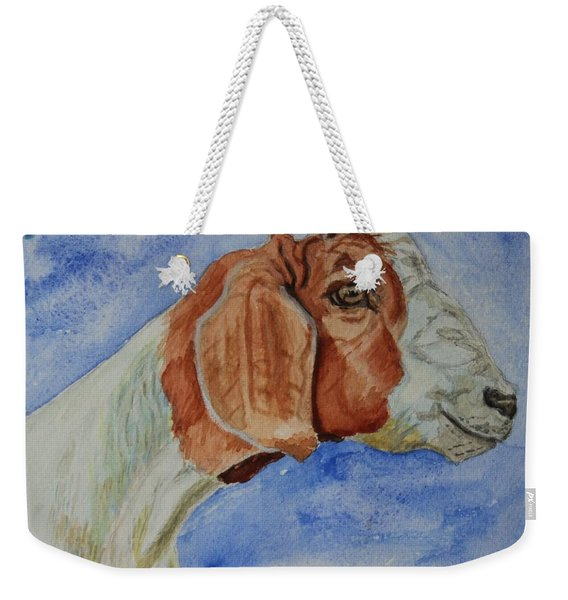 Sara's Goat Weekender Tote Bag