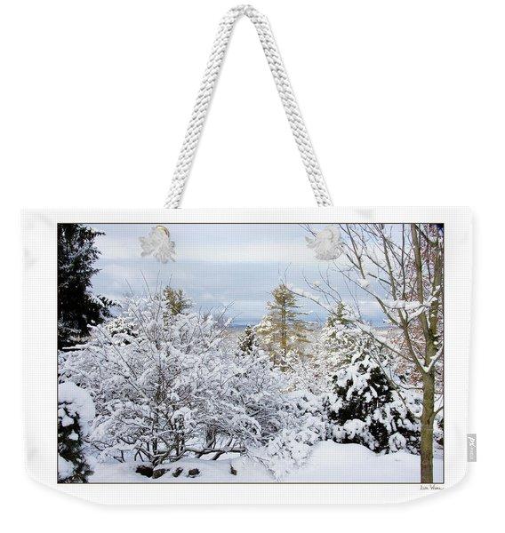 Saratoga Winter Scene Weekender Tote Bag