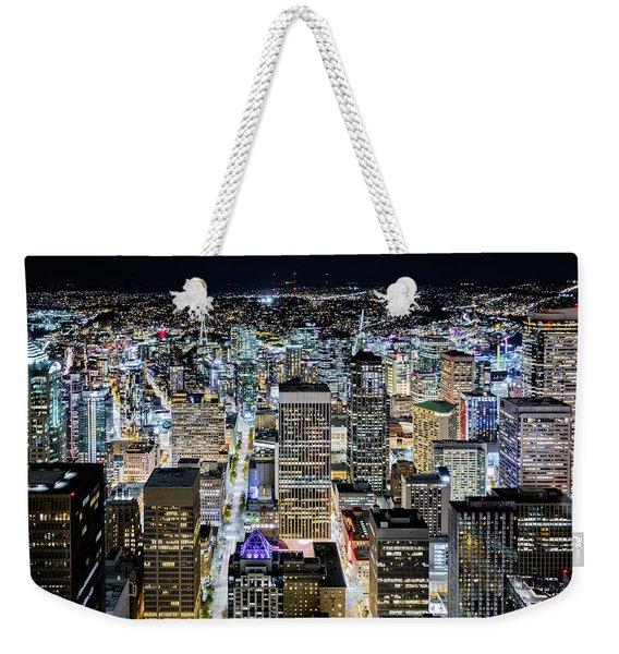 Seattle Lights Weekender Tote Bag