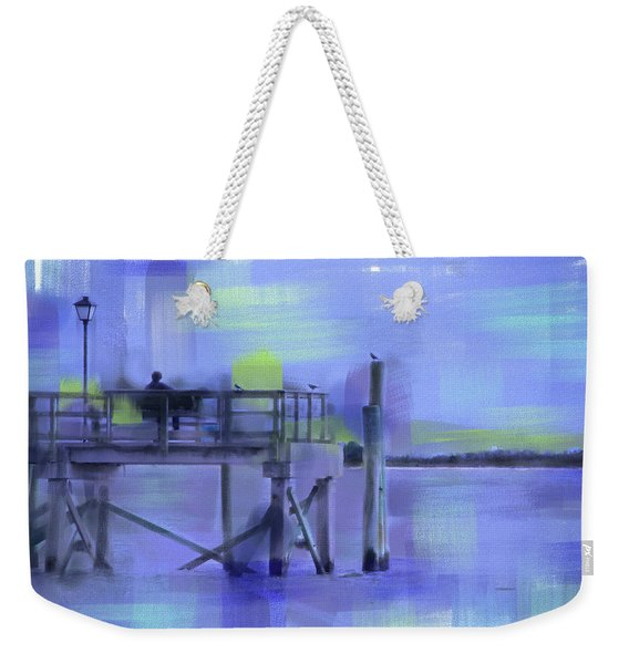 Weekender Tote Bag featuring the digital art Saturday Idyll by Gina Harrison