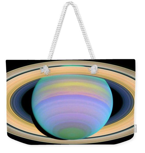 Saturn's Rings In Ultraviolet Light Weekender Tote Bag