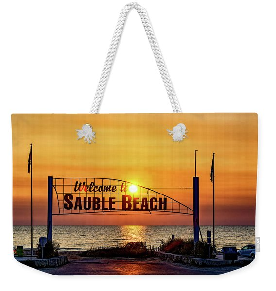 Sauble Beach Sunset 2 Weekender Tote Bag