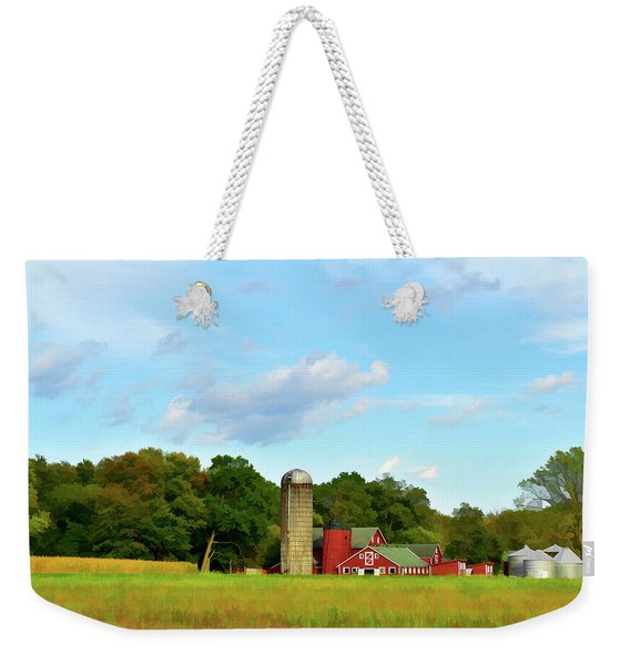 Weekender Tote Bag featuring the photograph Sauer Farm, Mt. Marion by Nancy De Flon