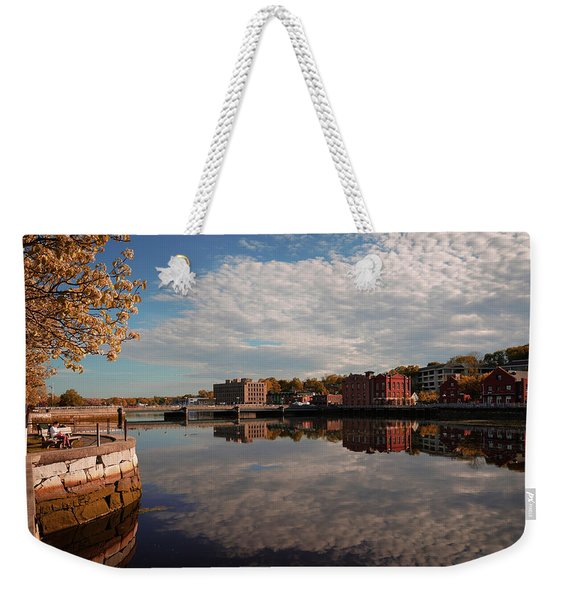 Weekender Tote Bag featuring the photograph Saugatuck River - Westport by Michael Hope
