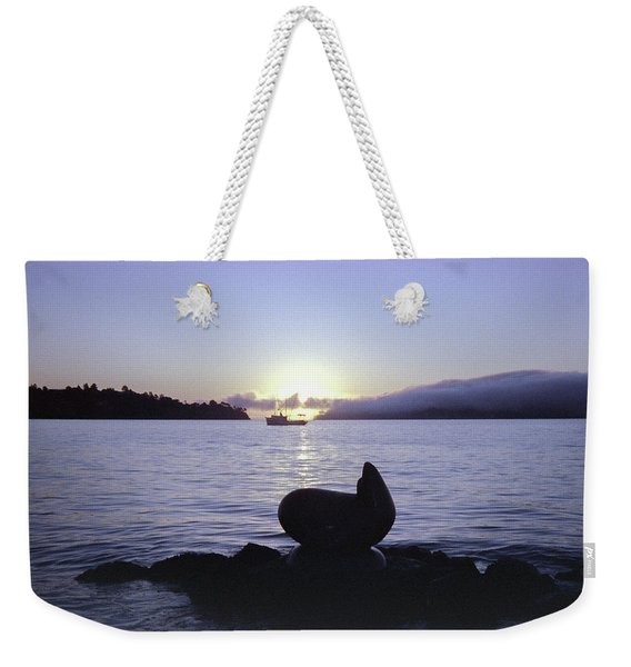 Weekender Tote Bag featuring the photograph Sausalito Morning by Frank DiMarco