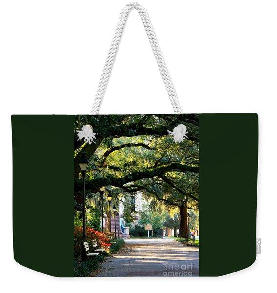Savannah Park Sidewalk Weekender Tote Bag