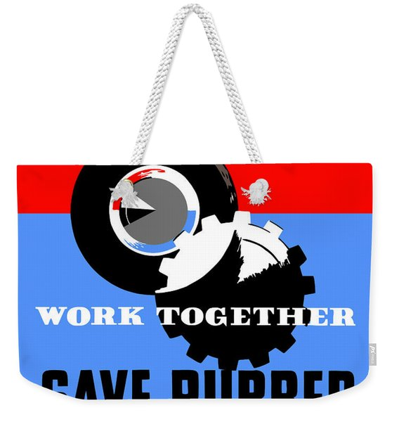 Save Rubber For Victory - Wpa Weekender Tote Bag