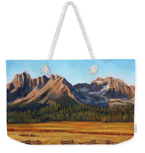 Sawtooth Mountains - Iron Creek Weekender Tote Bag