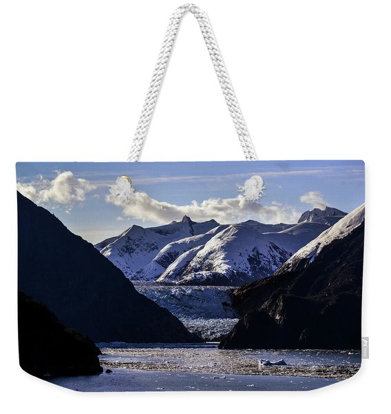 Sawyer Glacier In Tracy Arm Fjord Weekender Tote Bag