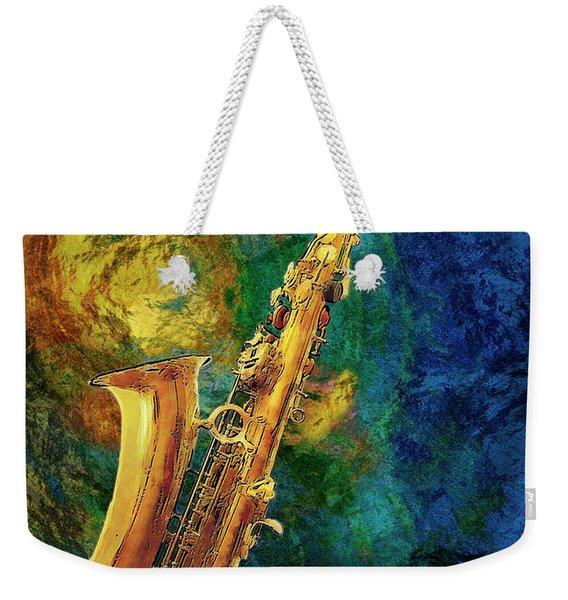 Saxophone Weekender Tote Bag