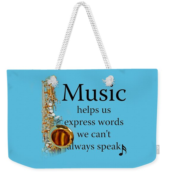 Saxophones Express Words Weekender Tote Bag