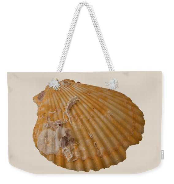 Scallop Shell With Guests Transparency Weekender Tote Bag