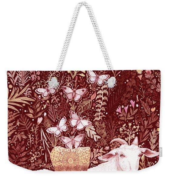 Scapegoat Healing Tapestry Print Weekender Tote Bag