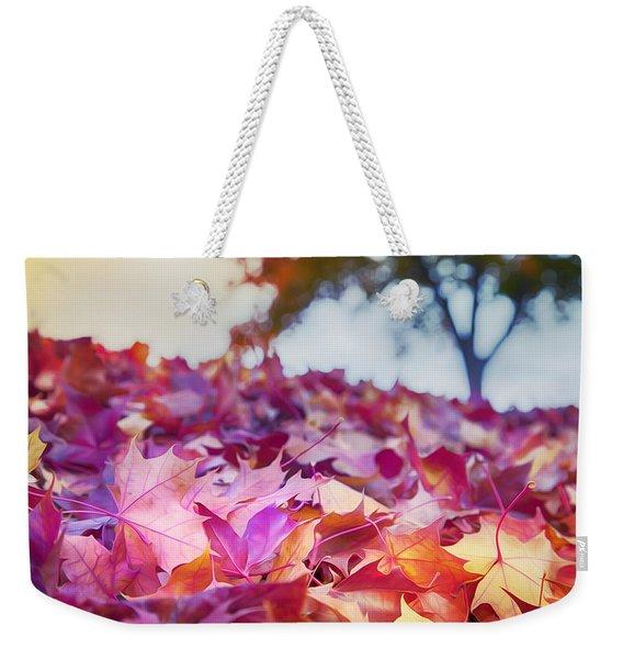 Scarlet And Gold Weekender Tote Bag