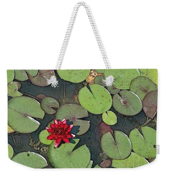 Scarlet Waterlily Weekender Tote Bag