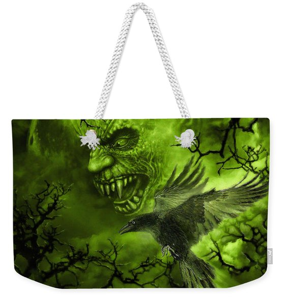 Scary Moon Weekender Tote Bag