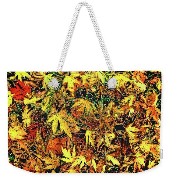 Scattered Autumn Leaves Weekender Tote Bag