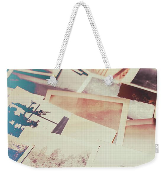 Scattered Collage Of Old Film Photography Weekender Tote Bag