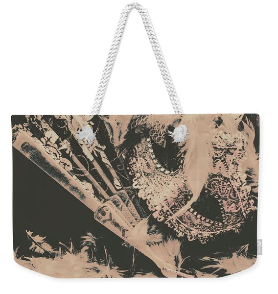 Scene From A Country And Western Cabaret  Weekender Tote Bag