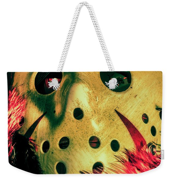 Scene From A Fright Night Slasher Flick Weekender Tote Bag