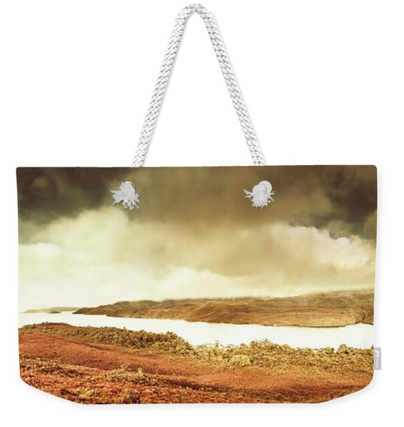 Scenic Southwest Tasmania Lakes Weekender Tote Bag