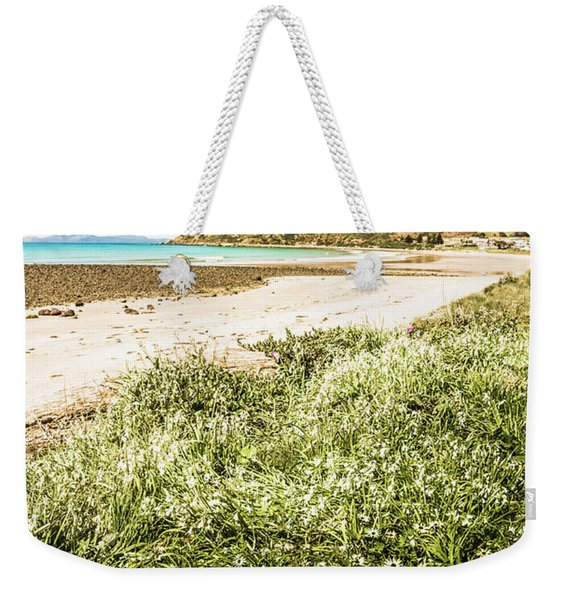 Scenic Stony Seashore Weekender Tote Bag