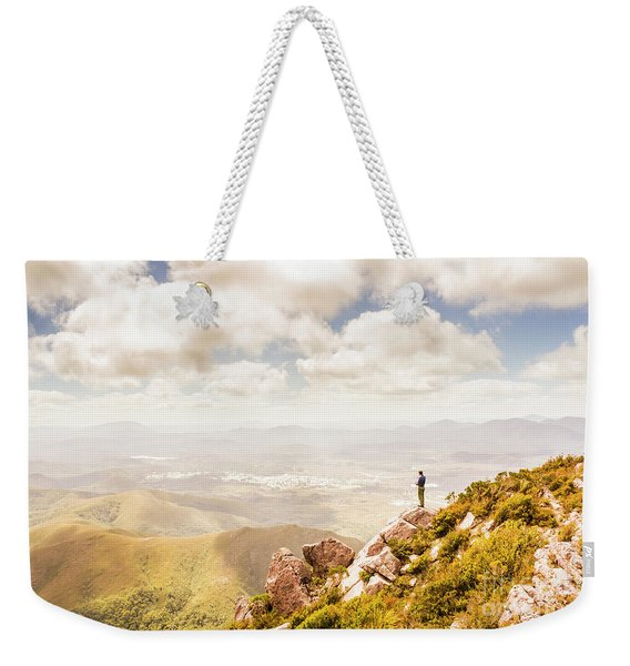 Scenic View Of Mt Zeehan, Tasmania, Australia Weekender Tote Bag