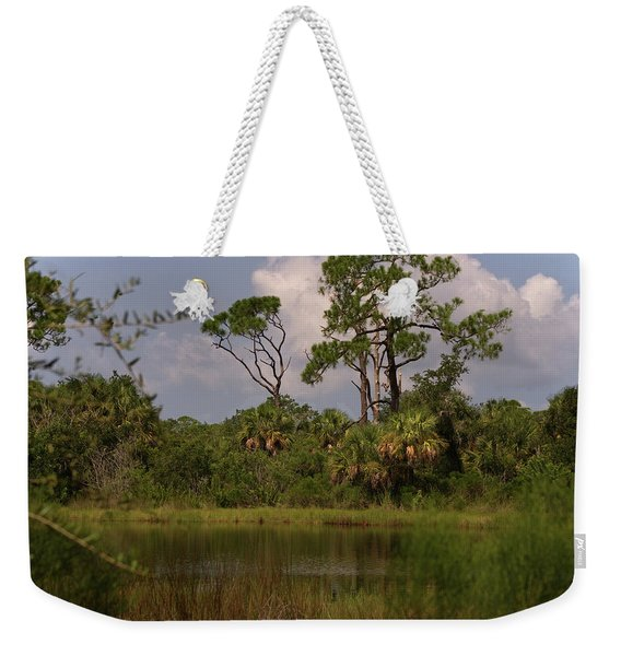 Scenic View Of Trees And A Pond Weekender Tote Bag