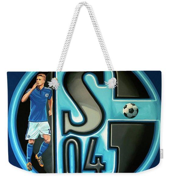 Schalke 04 Gelsenkirchen Painting Weekender Tote Bag