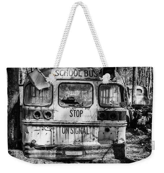 School Bus Weekender Tote Bag