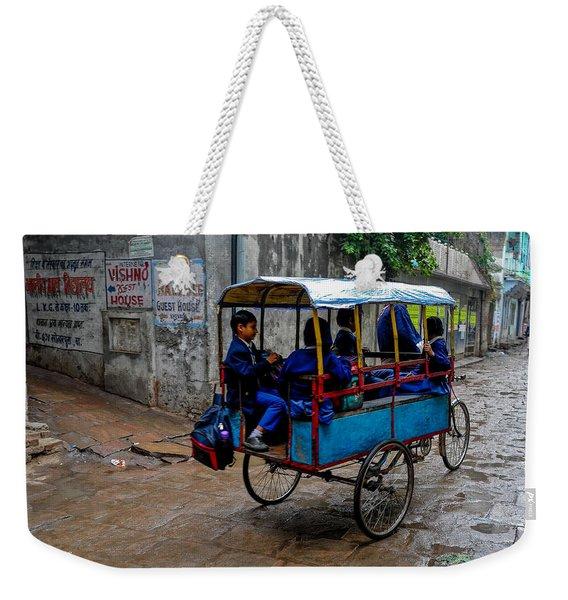 School Cart Weekender Tote Bag