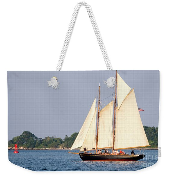 Schooner Cruise, Casco Bay, South Portland, Maine  -86696 Weekender Tote Bag