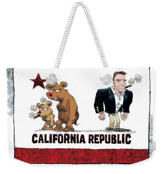 Schwarzenegger Love Child Flag Weekender Tote Bag