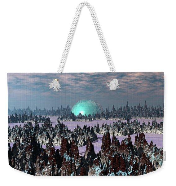 Sci Fi Landscape Weekender Tote Bag