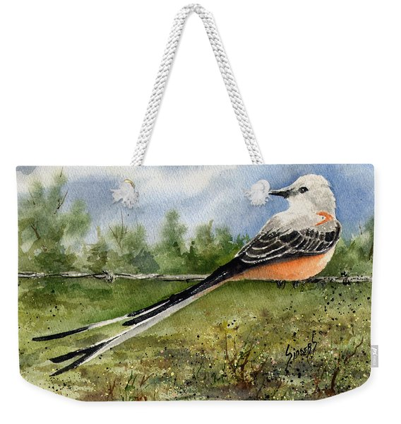 Scissor-tail Flycatcher Weekender Tote Bag