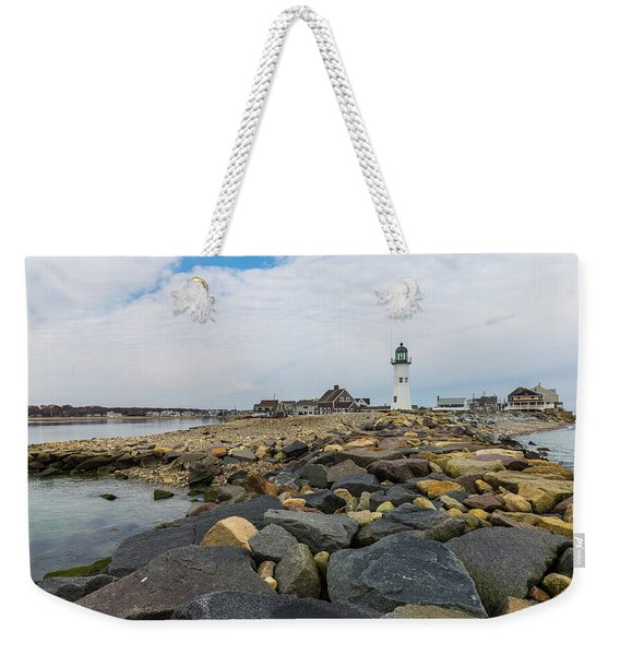 Scituate Lighthouse And Cedar Point Weekender Tote Bag