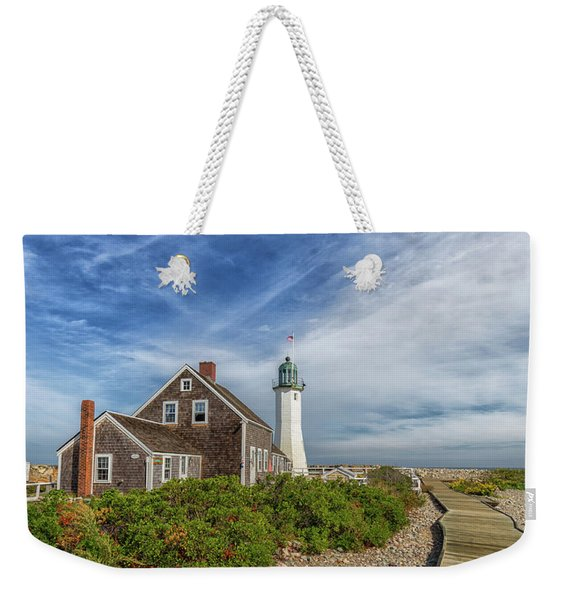 Scituate Lighthouse Boardwalk Weekender Tote Bag