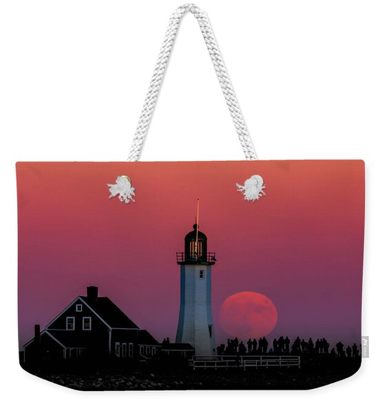 Scituate Supermoon Weekender Tote Bag