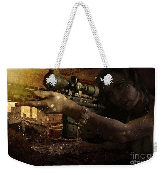 Scopped Weekender Tote Bag