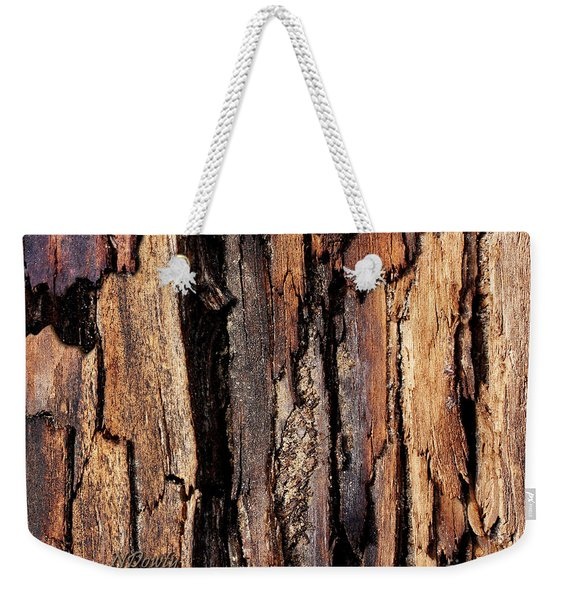 Scorched Timber Weekender Tote Bag